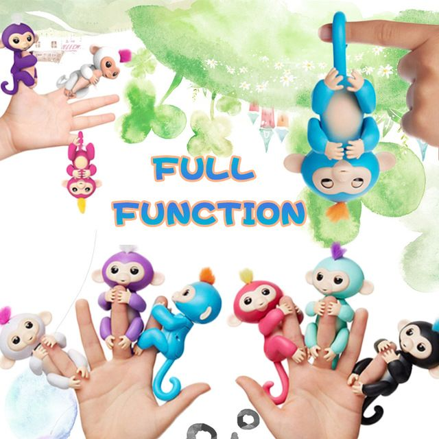 Price:   US $2.99 /piece LED 6 Color Cute smart colorful fingerlings baby monkey Unicorn Interactive finger monkey electronic pets Gifts for children Toy