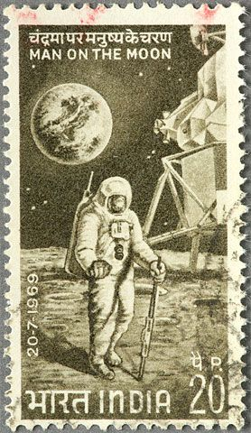 If all goes to plan, India will soon not have cause to just celebrate others' trips to the moon—as it did with this postage stamp issued after the Apollo 11 landing—but its own as well.