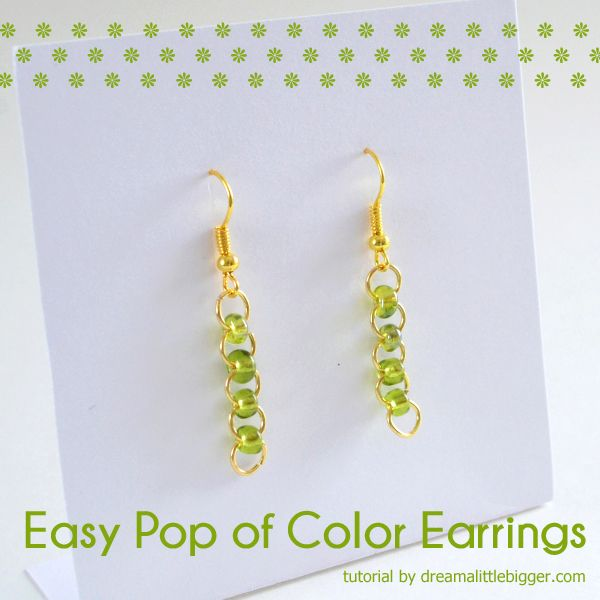 Easy Pop of Color Earrings