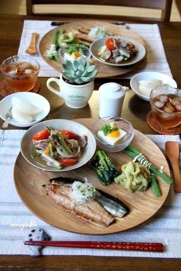 豚肉と野菜のピクルス。さんまのつけ焼き和食プレート。 by miyukiさん ...