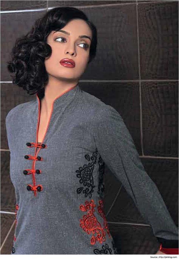 Jacquard Salwar Suit Neck Designs