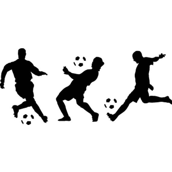 Soccer Wall Decal  Three Soccer Players Vinyl by AirlieCreations, $35.00