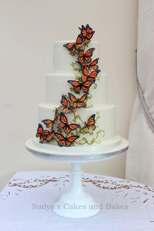 Adventurer's cake - migrating monarch butterflies