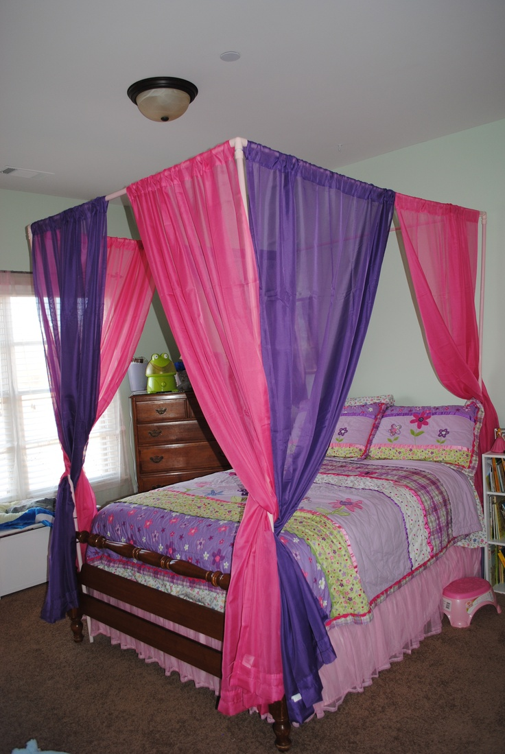 Bed canopy ideas for any budget - Cheap And Easy Canopy I Made This One Out Of 1 Inch Pvc Pipes