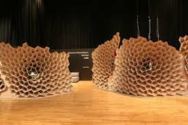 This bee hive looking structure is made out of paper and has been stuck together with any old strong glue. this is a permanent connection as to take it apart you would have to break it and it would not be able to be reassembled