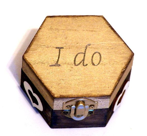 Wedding Ring Box Wood Ring Box Proposal Ring por Personalizedbox