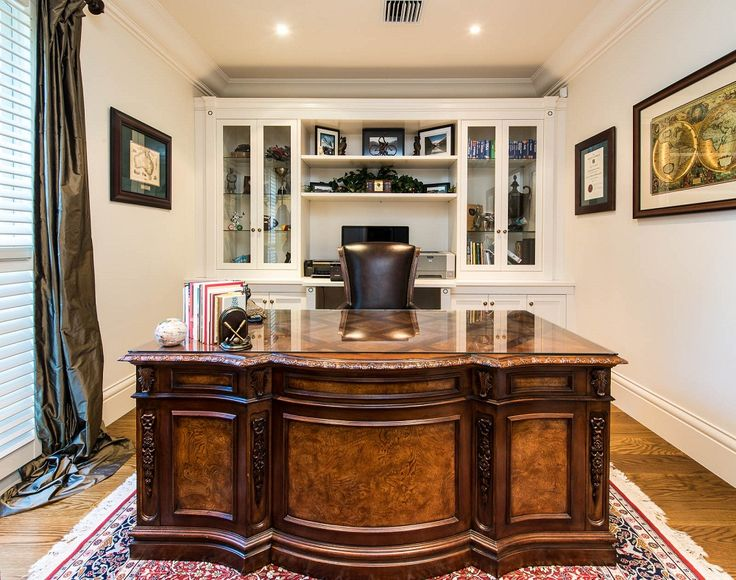 Working at home? This home office will surely make you feel like a boss! Don't you agree?  For more photos of our work, feel free to visit our portfolio: http://bit.ly/1VK9haE