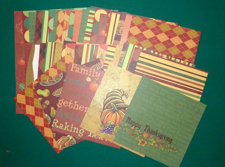 Thanksgiving Card Stock Paper by SouthamptonCreations on Etsy