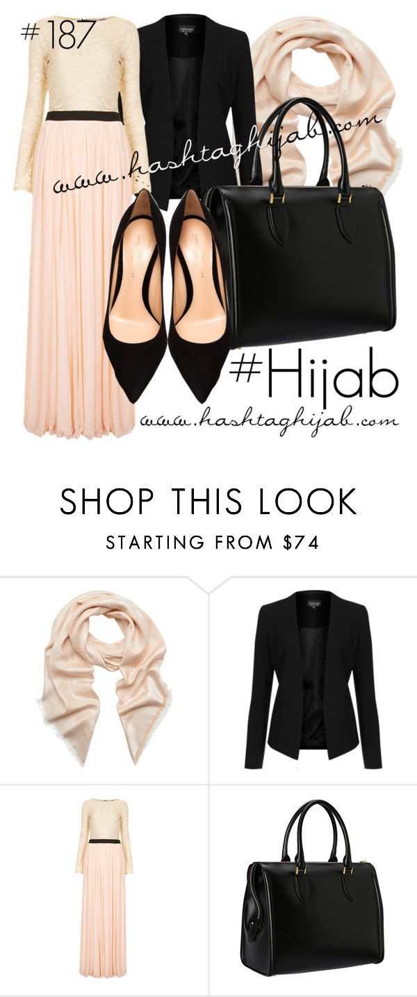 Hashtag Hijab Outfit #187 by hashtaghijab on Polyvore featuring Mode, Rare London, Topshop, Gianvito Rossi, Alexander McQueen, Mulberry and hijab