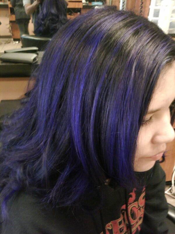 Violet highlights hair #jay_hair