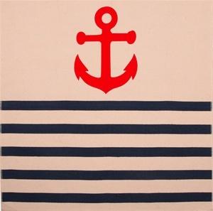 Anchor Napkin in Denim by Thomas Paul $16.00