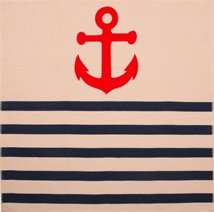 Anchor Napkin in Denim by Thomas Paul $16.00