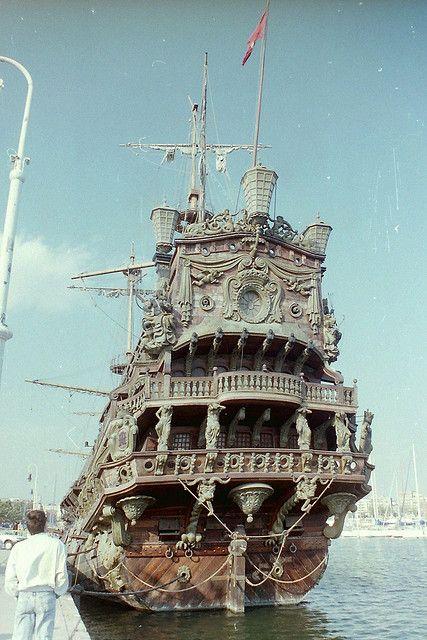 """cd...""""Pirates"""" ship Neptuno at Barcelona docks by Steve White2008, via Flickr"""