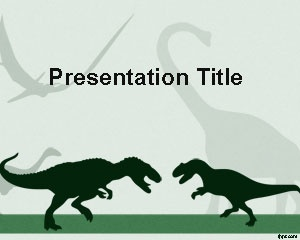This is free Dinosaur PowerPoint Template with two Dinosaurs that you can download to make presentations on Dinosaur history as well as other presentations on animals and archosaurian presentations