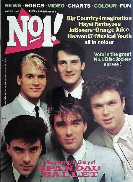 No1 Magazine May 28th 1983 ft  Spandau Ballet | Music Mags