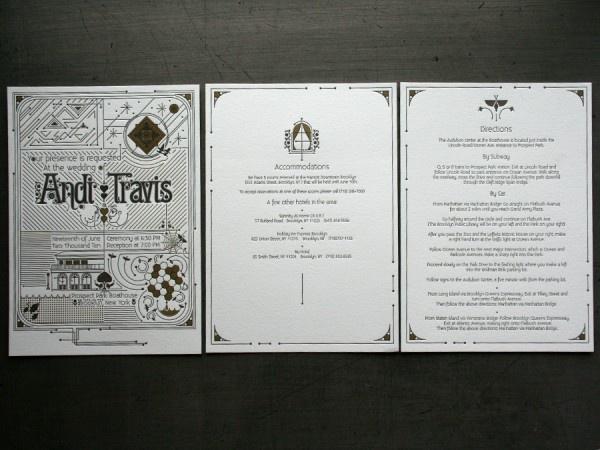 geometric art nouveau wedding suite