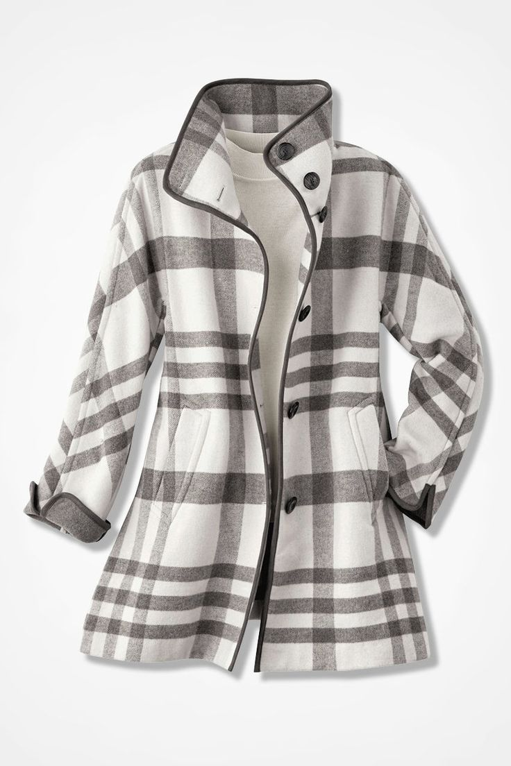 Dashing Plaid Swing Coat - Coldwater Creek