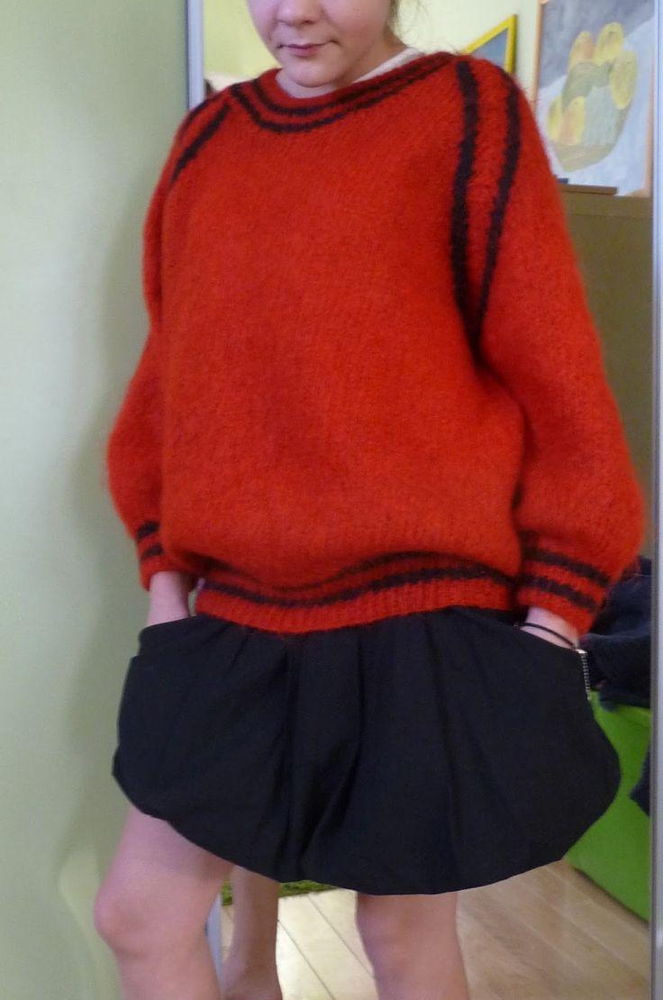 Ręko-czyny: Czerwone i czarne - sweter