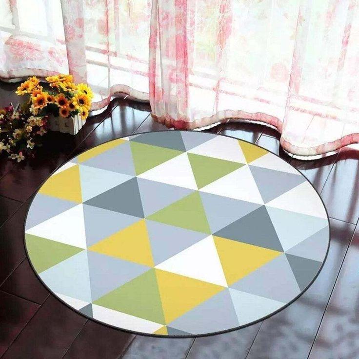 Modern CLM3009104TM Round Carpet Indoor Circular Round