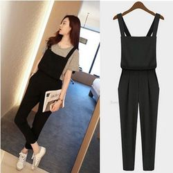 2015 New Free shipping Plus size Korean rompers Womens Jumpsuit bodysuit playsuit Overalls Casual Skinny Girls Pants Jeans 1