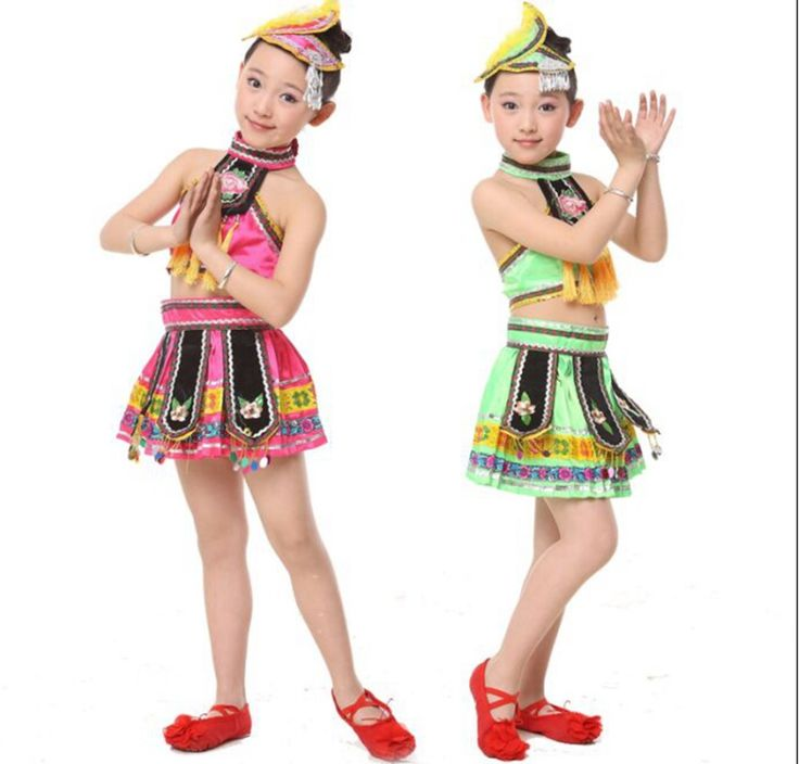 Miao Clothing Hmong Clothes Summer Children Stage Performing Suit Girls Dance Performance Clothing for Children Miao Costumes