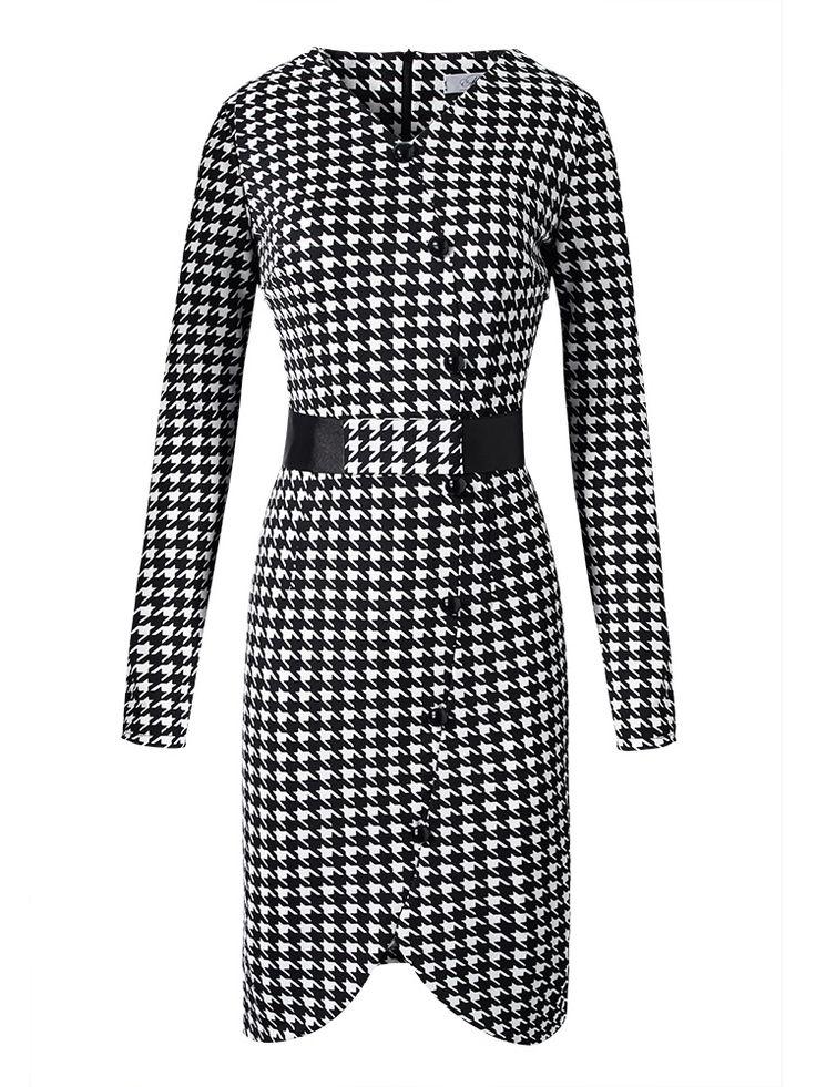 Вязание ткань платья нового прибытия ол офис Bodycon платье ласточка сетки платье