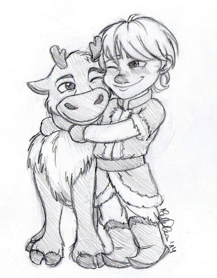 disney frozen sven drawing - photo #1