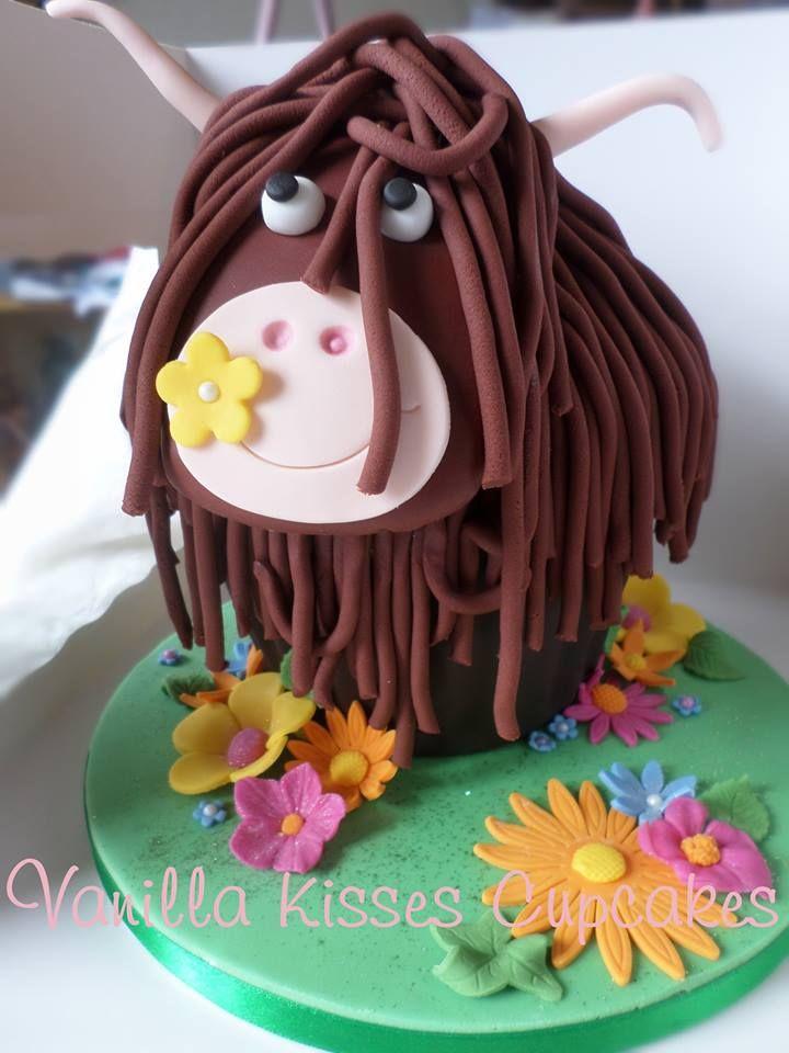 Heilan Coo Cake (Highland Cow Cake ! )