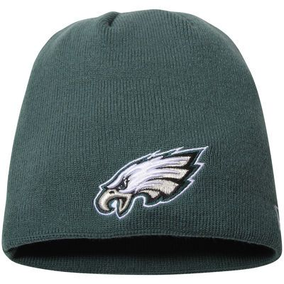 Philadelphia Eagles New Era Solid Uncuffed Knit Beanie - Midnight Green