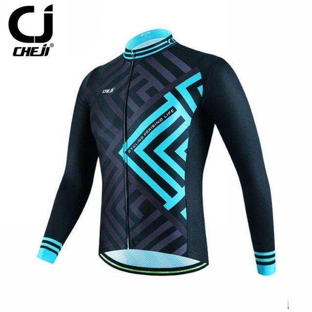 2016 Cheji hombres de Manga Larga Ciclismo Jersey Ropa Bicicleta de Carreras de Bicicleta de Montaña de Invierno Deporte Ropa Ciclismo ropa ciclismo