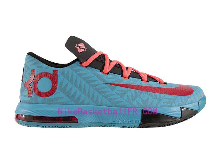 Nike KD 6 N7 Pas Cher Turquoise fonc� / Universit� Rouge-Noir-Rouge 626368