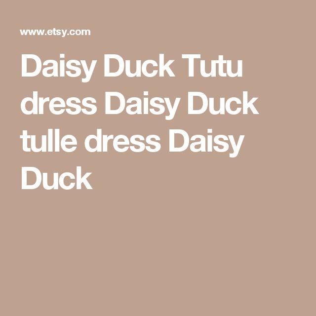 Daisy Duck Tutu dress Daisy Duck tulle dress Daisy Duck