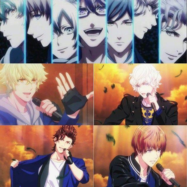 ♔angels~tachi ..HE★VENS is back with 4 new members!!!!... omggg.. Hyuuga Yamato ★ Amakusa Shion ★ Kiryuin Van ★ Otori Eiji ^^..^^what do u think.. all ia handsome *-*... Anyone Fans of HEAVENS .. me yesss !!!! .. #utapri #utapuri #utanoprincesama #majiloverevolutions #heavens #otorieiichi #nagi #sumeragikira #otorieiji #yamatohyuuga #kiyuinvan #amakusashion #anime #heavensgate #うた☆プリ #うたのプリンスさま #うたプリ #idolsong #bishounen as STARISH RIVAL!!!