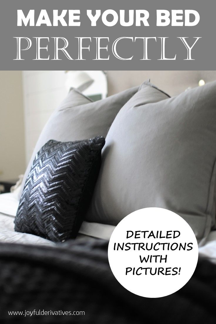 Everything you Need to Know to Perfectly Make your Bed - Joyful Derivatives How to Make Your Bed / How to Make a Bed / What to Put on Your Bed / Sheets / Blankets / Pillows / Bed Tray / Easy Bed Making / Designer Secrets / Modern Farmhouse / Fixer Upper