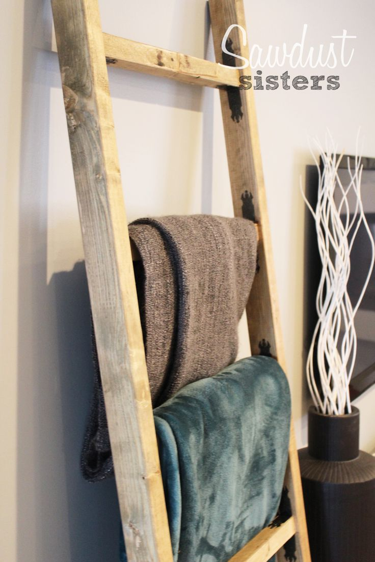 Diy Blanket Ladder A Well Towels And Sisters