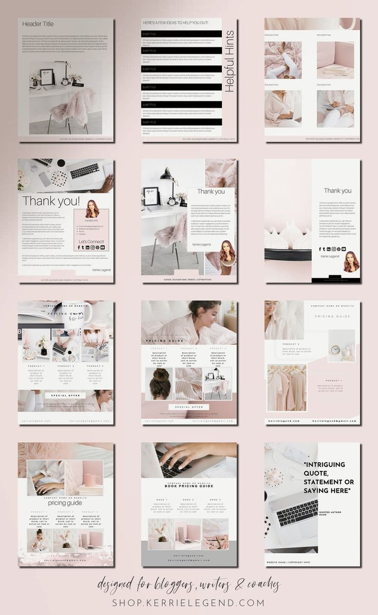 80Page eBook & Workbook Canva Template for Bloggers
