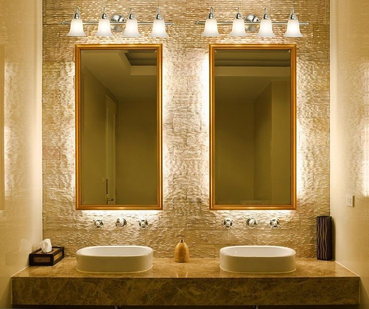 bathroom light fixtures with white vessel sinks and rectangle doule mirrors vintage bathroom lighting