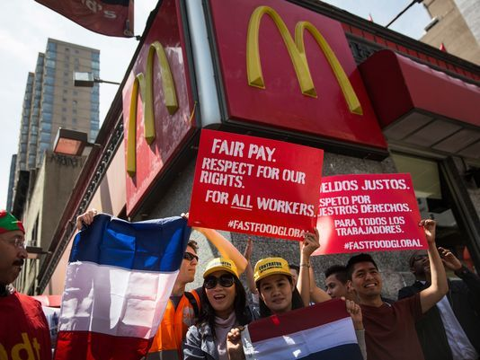 Employees fight for higher wages #Fastfoodstrike