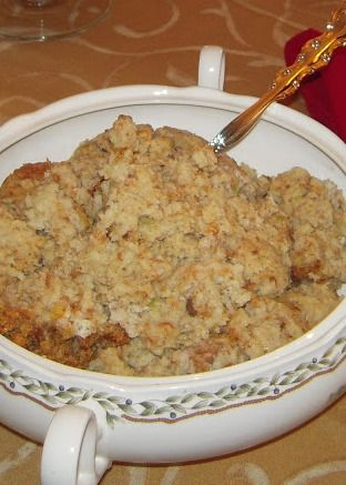 Mom's Turkey & Dressing - the best Southern Cornbread Dressing for Thanksgiving