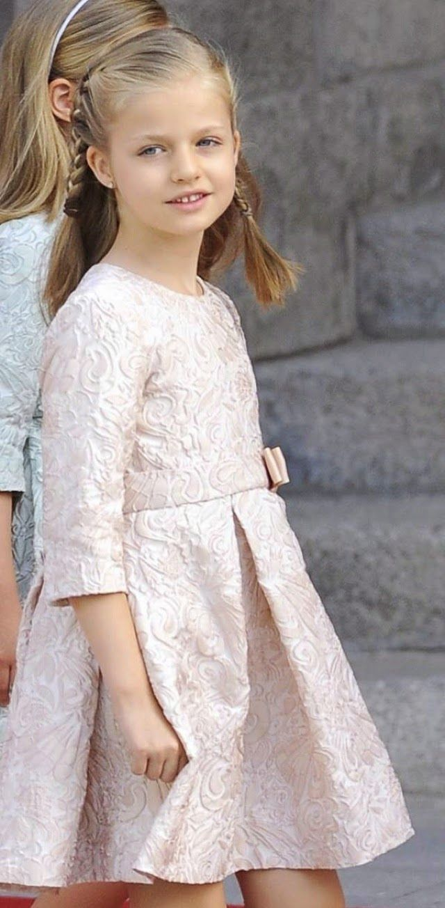 Leonor, Princess of Asturias during Official coronation ceremony of King Felipe VI  in Madrid, 19.06.2014