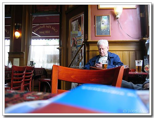 Old man in pub | Flickr - Photo Sharing!