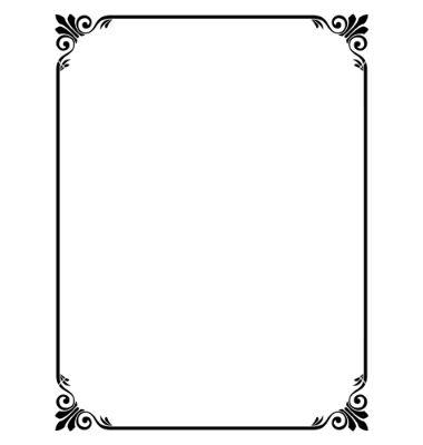 9 best photo frames borders images on pinterest decorative simple ornamental decorative frame vector 631376 by 100ker on vectorstock stopboris Choice Image