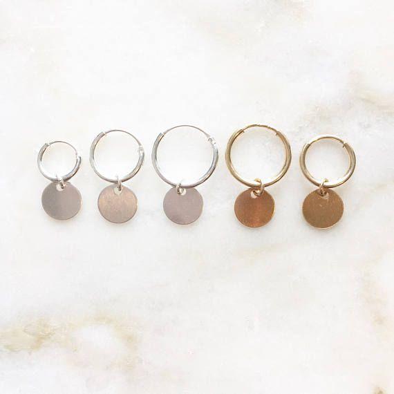 Coin earrings | Handmade jewellery | 14k gold filled & sterling silver