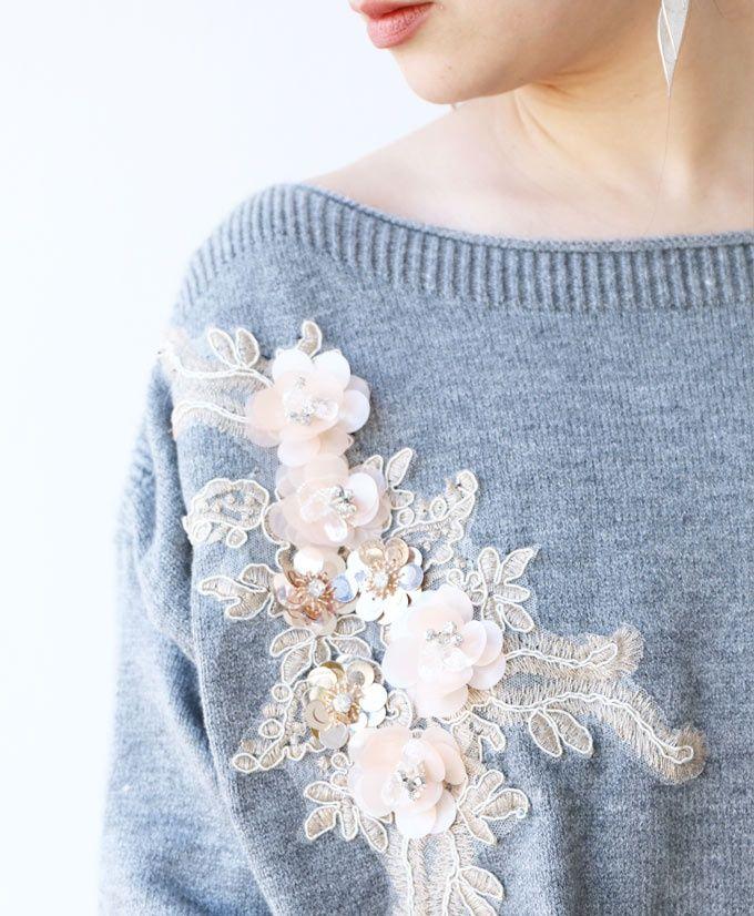как украсить свитер лентами фото фото запечатлен