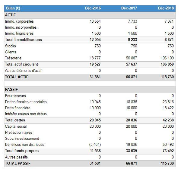 exemple de budget pr u00e9visionnel   le bilan comptable
