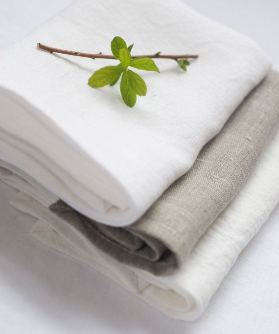 Linen wash cloths. Bath and Beauty cloth. by HealthyHappyLiving