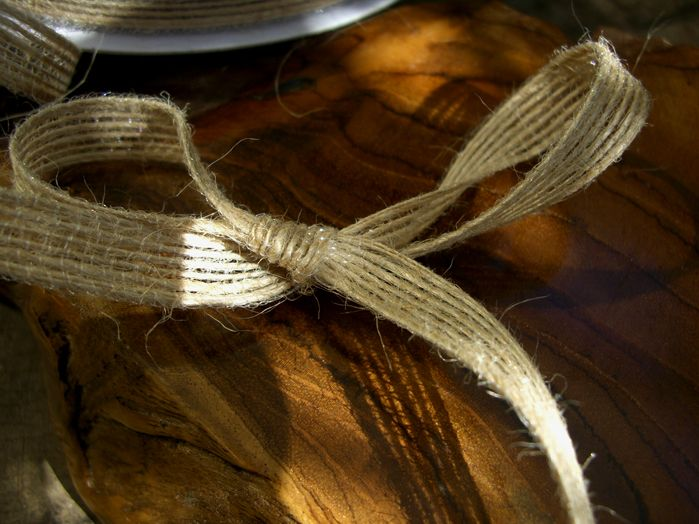 "5.89 SALE PRICE! Adorn your vases, table settings, chair backs, bouquets, and more with this essential natural jute ribbon. It is 3/8"" wide and perfect ..."