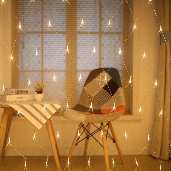 Led String Fairy Lights Net Mesh Curtain