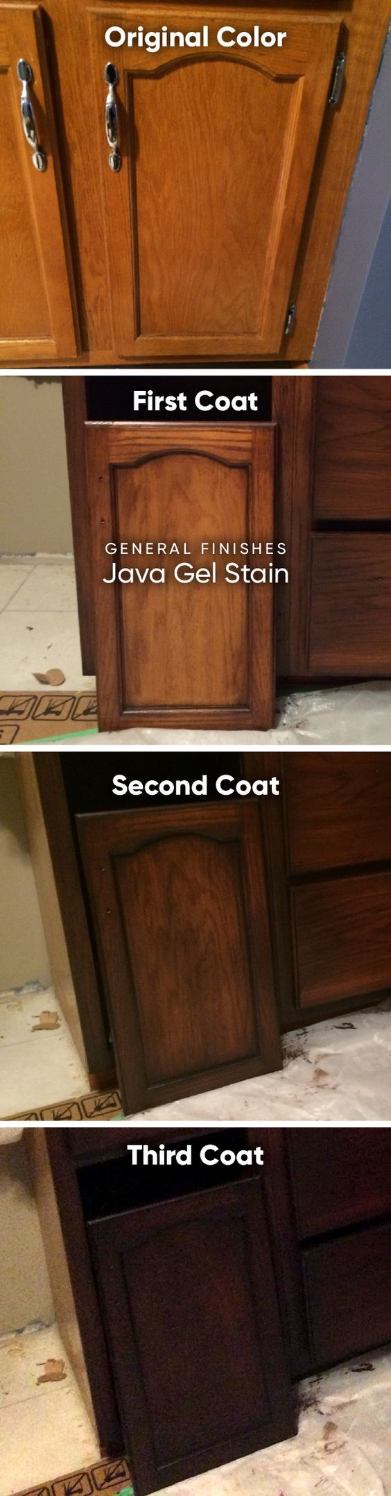 Can i stain over stain - Gel Stain General Finishes Java