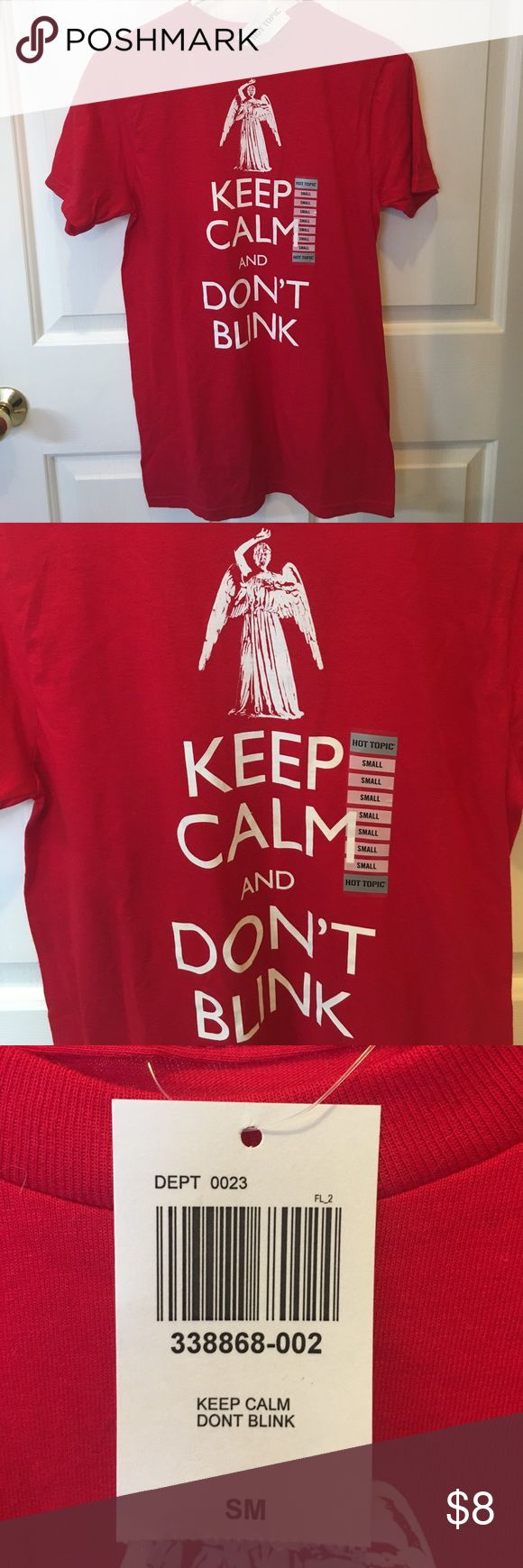 NWT Dr Who t shirt Brand new with tags Dr. Who t shirt size small. Smoke free home. Consider bundling with other items in my closet for a 15% discount! 😊 Hot Topic Tops Tees - Short Sleeve
